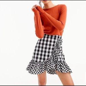 J.Crew Black & White Ruffle Skirt